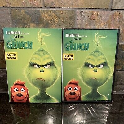 Dr Seuss' The Grinch DVD 2019 NEW With Slipcover Ships Fast!