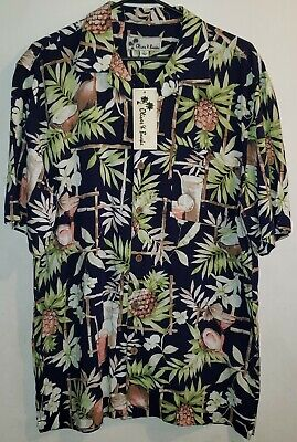 Desert Oliver /& Burke Mens Size Small Button-Down S//S Floral w//Planes Shirt