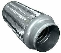 Stainless Steel Exhaust Flexible Pipe 38mm x 94mm with Interlock Flexi Connector