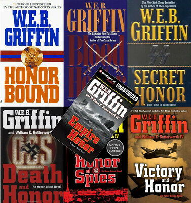 (7 AUDIOBOOKs)  Honor Bound Series by W.E.B. Griffin