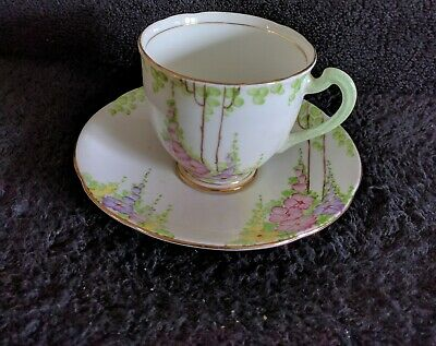 Royal Standard English Bone China Cup Saucer Pink Yellow Purple Floral Gold Trim