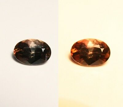 1ct BiColour Axinite - Rare Colour Change Gem Quality - Excellent Clarity