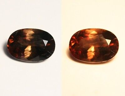 3.8ct BiColour Axinite - Rare Colour Change Gem Quality - Excellent Clarity