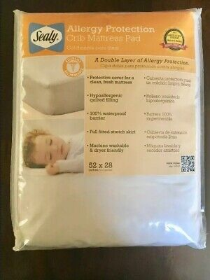 New Sealy Allergy Protection Crib Mattress Pad
