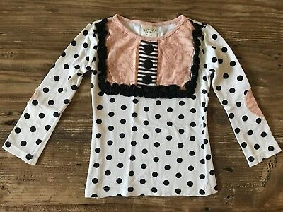 Details about  /NWT Persnickety Bushel /& a Peck Pink Polka Lace Lou Lou Top Girls  sz 3