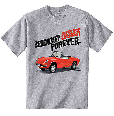 Alfa Romeo Spider Legendary Driver - New Cotton Grey Tshirt - All Sizes In Stock