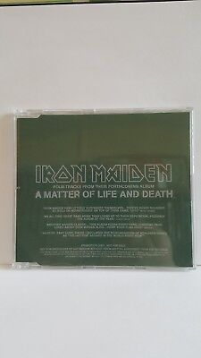 Rare!!!  Uk Cd Dj Promo Of A Matter Of Life & Death Brand New By Iron Maiden