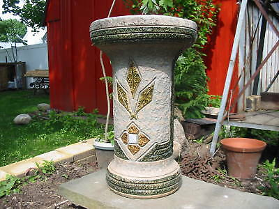 1915 Mostique Roseville Pedestal 18 inches tall 98 years old excellent worth it!