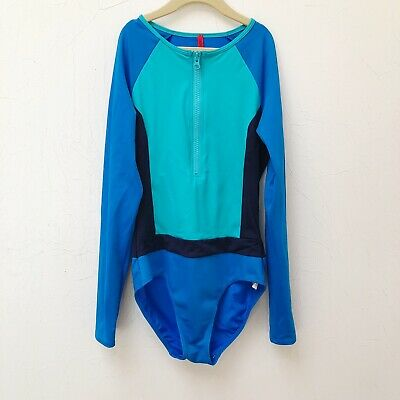 f8842e789061e SPANX LONG SLEEVE ONE PIECE SWIMSUIT size 6 ELECTRIC BLUE NWT w/ FREE  SHIPPING