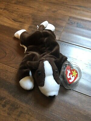 626b15f43e0 TY Bruno Beanie Baby - New - Retired 1997 w  Errors
