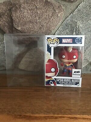 Funko Pop! Marvel Captain Marvel Masked  #154 GTS Exclusive With Protector