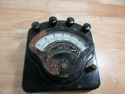 Antique Weston 0-10 Volt DC Voltmeter 1917 1894 Early 1900s Steampunk Late 1800s