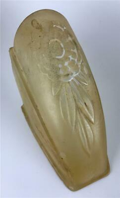Puritan Art Deco Amber Feather Frosted Glass Slip On Replacement Shade - 3 AVAIL