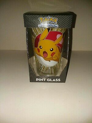 Pokemon Pikachu Collectible Pint Glass 16 oz Cup In Box *BRAND NEW*