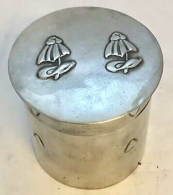 very fine liberty & co tudric pewter tea caddy  by C F A Voysey early mark 0102