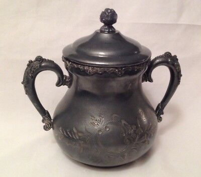 WM. A Rogers Quadruple Silver Plate New York #74 Sugar Bowl