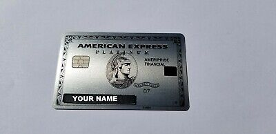Custom Name - American Express Platinum Ameriprise - Metal Card