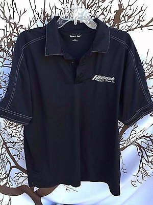 4b689586 HillBank Motor Sport Shelby Racing SportTek Stitched Polo Shirt XL X-LARGE  Black