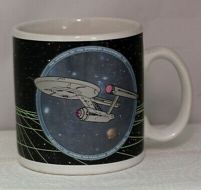 STAR TREK Vintage Star Trek Starship USS Enterprise Coffee Mug
