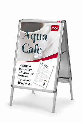 Nobo Clip-down Frame Moulded Aluminium Front-opening 594x420mm A2