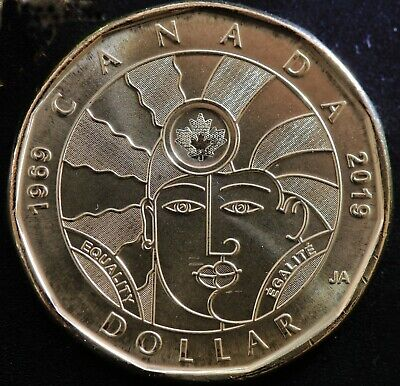2019 $1 Dollar EQUALITY coin Canada Loonie UNC from bank roll