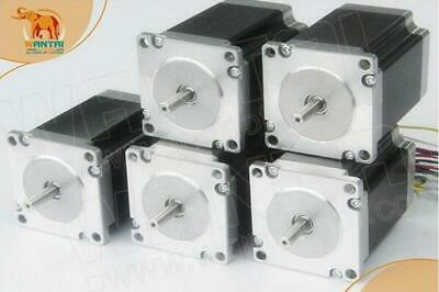 EU Free! Wantai 5PCS Nema23 Stepper Motor 3A 425oz-in Single Shaft CNC Kit