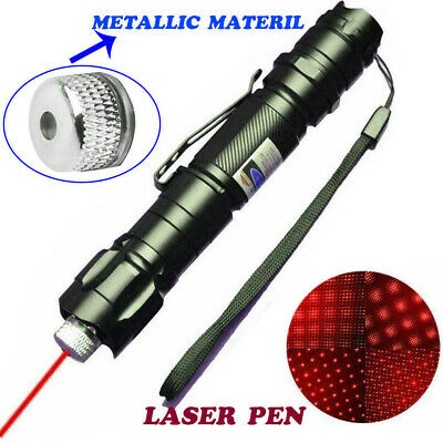 60Miles 650nm High Power Red Laser Pointer Military Beam Lazer Pen+Star Cap USA