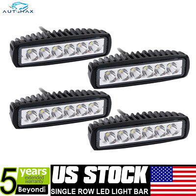 """18W 4X 6"""" Spot LED Work Light Bar Driving Lamp For SUV Truck UTE Offroad ATV 4WD"""
