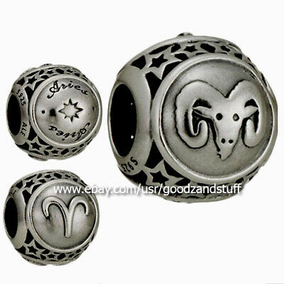 081c4f7fa Zodiac Aries Star Sign Authentic Pandora Sterling Silver Charm 791936