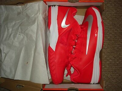 new arrival d476f 44d17 NIB Nike Nadal Lunar Ballistec 1.5 Team Red Tennis Shoes 705285-602 Sz 12.5
