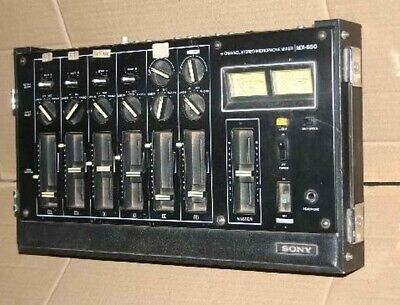Sony Mx-650 6 Channels Stereo Audio Mixer Classic Vintage