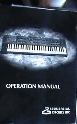 Sequential Circuits Prophet 600 Syntesizer Technical repair manual CM600A