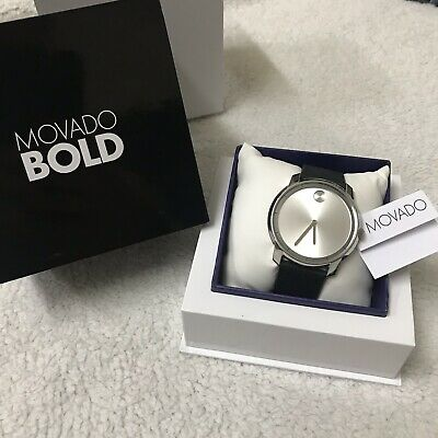 🔥New🔥 Movado BOLD 3600468 Large Men's Watch Leather Strap With Box Included