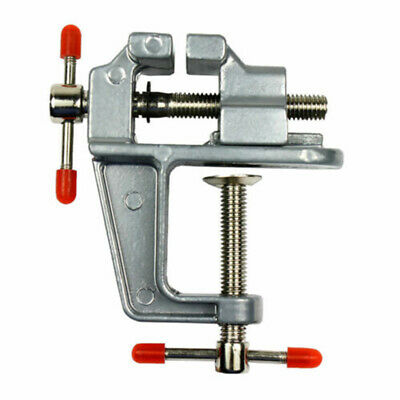"3.5"" Mini Aluminum+Steel Vise Jewelers Hobby Clamp On Table Bench Tool Vice"
