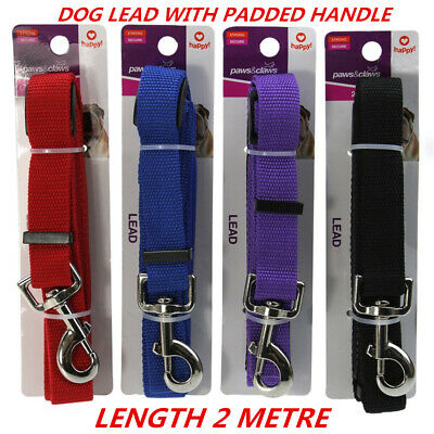 Dog Pet Puppy Tracking Training Walking Leash Lead With Padded Handle Snap Hook