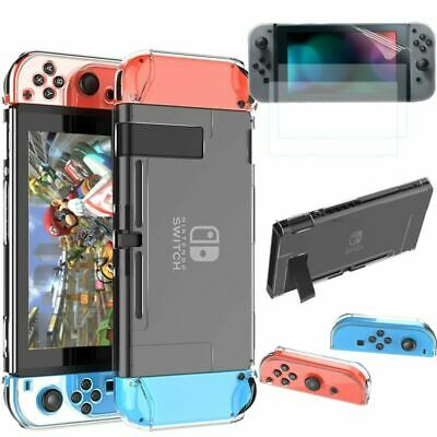 1~5pcs 360° Protective Hard Case Cover+ HD Clear Skin Film For Nintendo Switch
