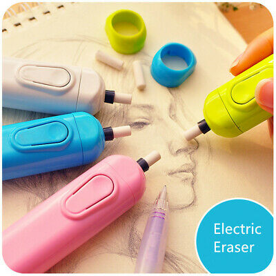Eraser Sketch Electric Automatic Eraser with Replacement Refills Kids Stationery