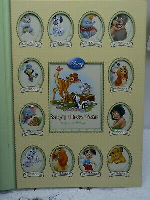 Disney Baby Keepsake Memory Book Album Baby's First Year Unisex Boy Girl
