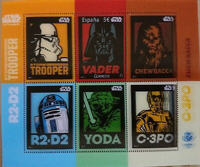 Star Wars Stamp Sello 3 D Correos Anniversary Rare Special Spain Limited Edition