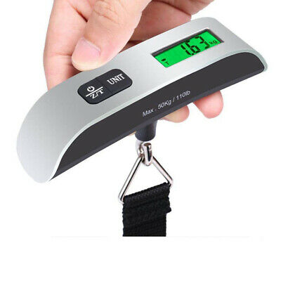 50KG 10G Portable Digital Travel Scale Suitcase Luggage Weight Hanging Scale