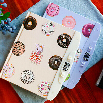 Creative Password Cute Notebook Student Diary With Lock Notebook Random Color