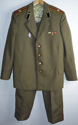 Daily Russian Uniform Jacket Tunic Trousers Pants Soviet Army Officer USSR Pins
