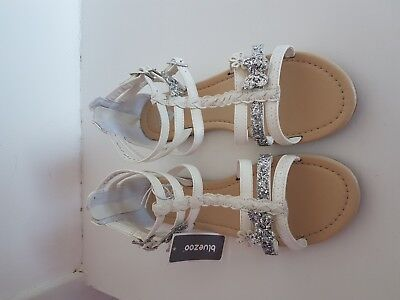 New With Tag  Bluezoo  Girls  Butterfly  Sandals  Size Adult  5