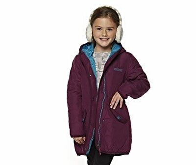 Girls Regatta 'Ticitiboo' Quilted Hooded Coat Age 3/4 yrs Blackcurrant BNWT