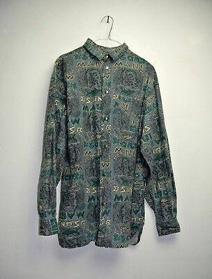Camicia Maui And Sons Made In Usa Cult Vintage 90'S  Shirt Tg.m/L  C330