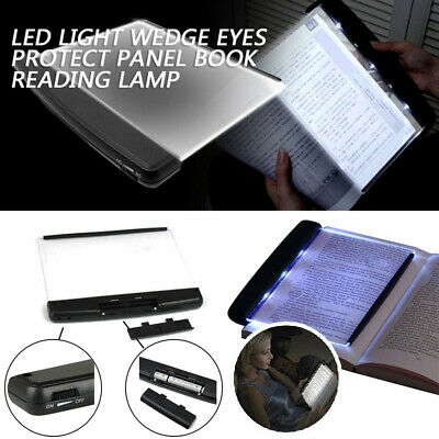 LED Light Wedge Eyes Protect Panel Reading Book Lamp Paperback Night Vision