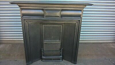 Coalbrookdale victorian cast iron fireplace surround with all cast iron insert