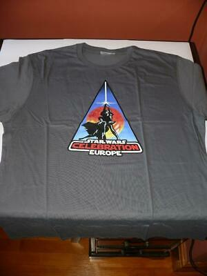 Official Star Wars Celebration Europe 2007 T-Shirt ~ Size XL ~ NEW / UNUSED