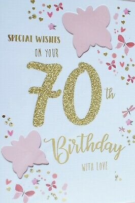70th Birthday Card Female Various Cards Free P