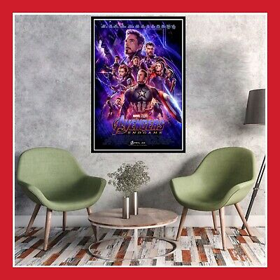 Toile Affiche Us Cinema Movie Film Poster Photo Avengers Endgame Ironman Thor